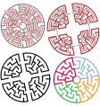 Circle and arc maze puzzle