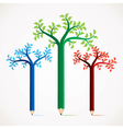 colorful pencil tree stock vector image vector image