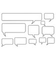 comic speech text bubbles set03 vector image