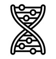 dna formula icon outline style vector image vector image