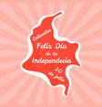 feliz dia de la independencia vector image