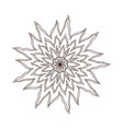 fire flower mandala tattoo art design carpet vector image