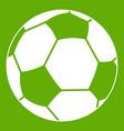 football ball icon green vector image vector image