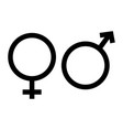 gender icon in trendy flat style on white vector image vector image