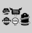 genuine label badges vector image vector image