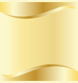 gold curve background template vector image