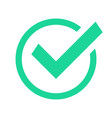 green circle check mark confirmation tick marks vector image
