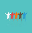 group of people with raised hands concept for vector image vector image