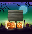 halloween realistic background vector image