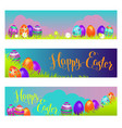 holiday easter banners vector image vector image