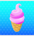 ice cream cartoon food dessert vector image