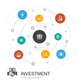 investment colored circle concept with simple vector image vector image