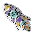 Isolated rocket draw design vector image