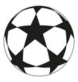 line art black and white soccer ball star vector image vector image