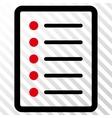 List Page Icon vector image