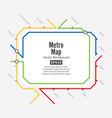 metro map fictitious city public transport vector image vector image