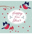 New Year and Merry Christmas Bullfinch vector image vector image
