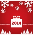 New Year greetings card with flat icons 2014 vector image vector image