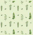 pattern with plant twigs vector image vector image