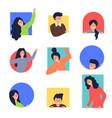 peek people male female characters looking vector image vector image