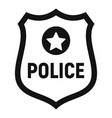 police gold emblem icon simple style vector image