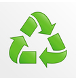 recycle icon green creative on light gray b vector image