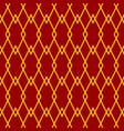 red diamond pattern vector image vector image