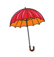 red umbrella autumn accessory vector image vector image