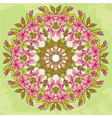 Round pattern - abstract floral background vector image vector image