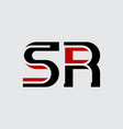 s and r initials or logo sr - monogram vector image vector image
