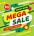 sale mega discount up to 50 percent off concept p vector image