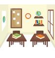 school classroom with schooldesks scene vector image vector image