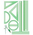 school measurement set vector image