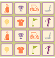 Seamless background with golf icons vector image vector image