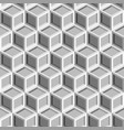 seamless repeating isometric grey cube pattern vector image vector image