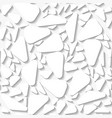 seamless white origami pattern vector image