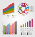 Set colorful business chart for infographic and vector image