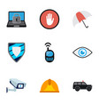 set of 9 editable procuring icons includes vector image vector image