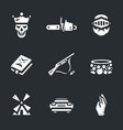 set of necromancy icons vector image vector image