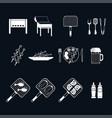 set of shish kebab grill vector image