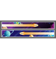 set space banners design vector image vector image