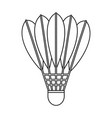 shuttlecock icon outline style vector image vector image