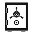 steel safe icon simple style vector image