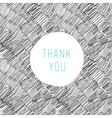 thank you card hand drawn vector image vector image