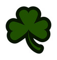three leaf clover icon vector image