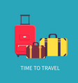 time to travel poster headline vector image vector image