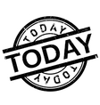 Today stamp rubber grunge vector image vector image