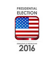 usa presidential election design vector image