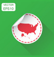 usa sticker map icon business concept america vector image vector image
