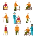 Various Degrees of Injuries and Disabilities vector image vector image